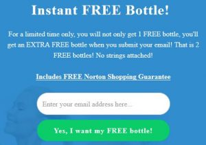2 free bottles offer on email sign up