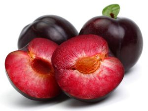 Plum Cut Open